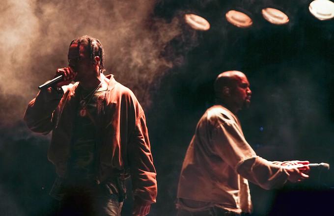 18daf6062090 Kanye Says Travis Scott Let Drake Sneak Diss for Clout: 'F*ck That ...