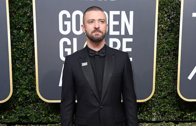 Justin Timberlake at the Golden Globes.