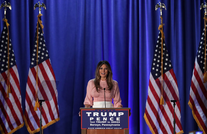 Melania speech in PA 11/3