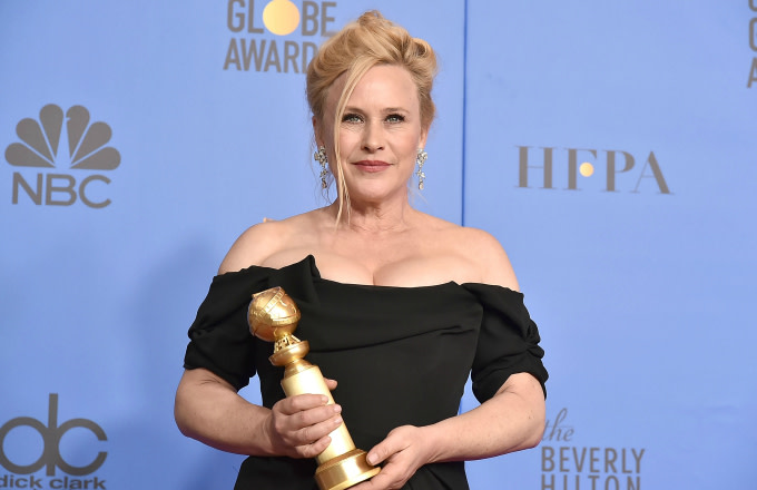 Patricia Arquette attends the 76th Annual Golden Globe Awards