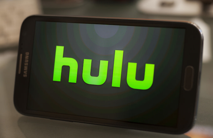 Hulu logo on a smartphone.
