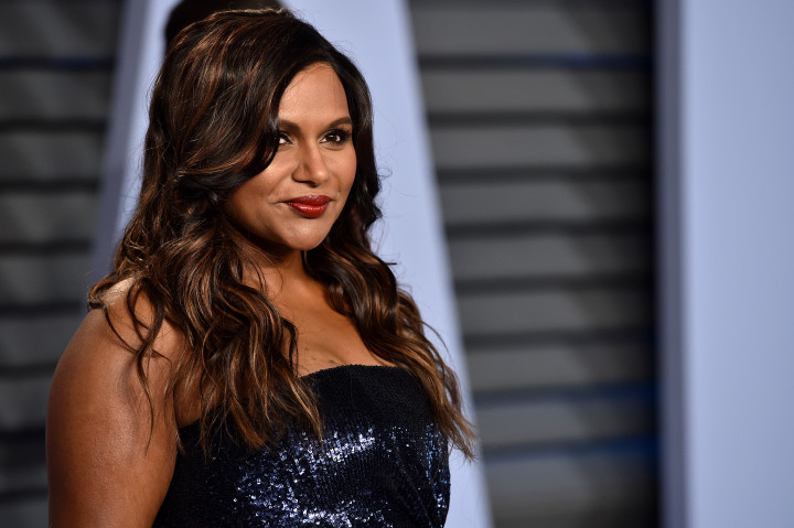 This is a photo of TV actress Mindy Kaling at the Vanity Fair Oscars Party in 2018.