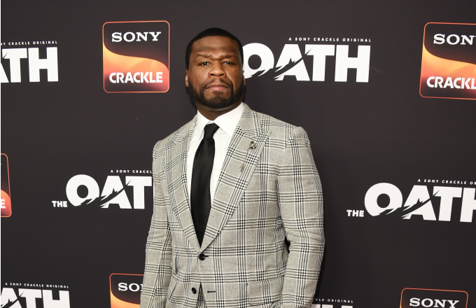 Curtis '50 Cent' Jackson arrives at Sony Crackle's 'The Oath' Season 2