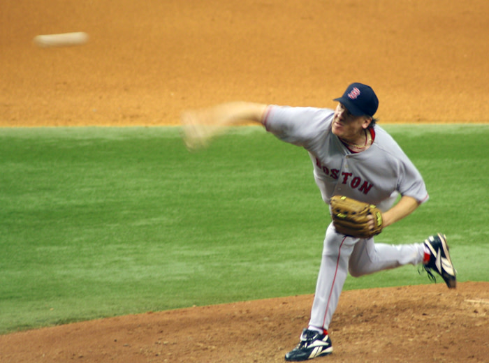 A 2006 photo of Curt Schilling from Wikimedia Commons