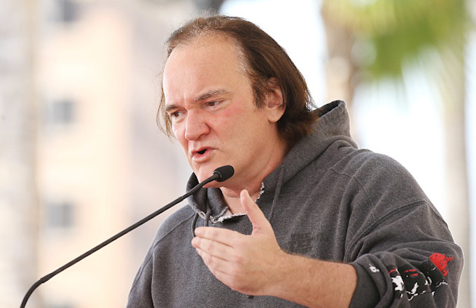 Quentin Tarantino attends the ceremony honoring Goldie Hawn and Kurt Russell