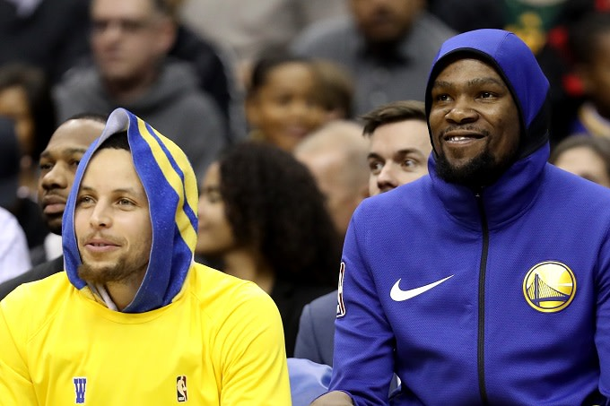 lowest price fe702 f1a04 Steph Curry Says Kevin Durant's First Year With Warriors Was ...