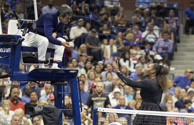 Serena Williams argues Carlos Ramos