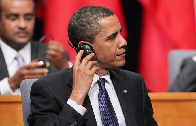 Barack Obama headphones