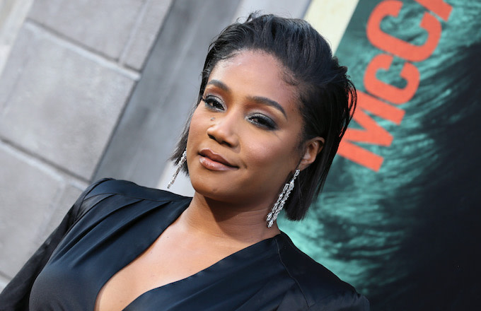 "Tiffany Haddish attends the premiere of ""The Kitchen."""