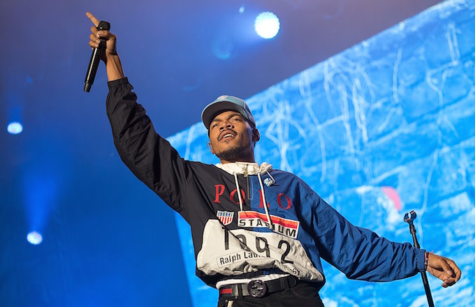 Chance the Rapper performs at Austin City Limits Music Festival.