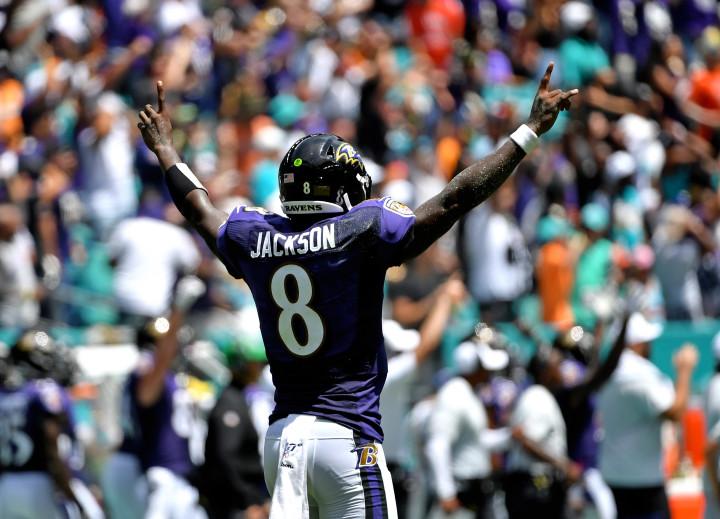 Lamar Jackson Ravens Dolphins 1 2019
