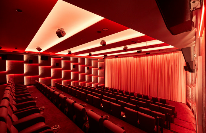 The Kino-Saal II, shot shortly before the opening of the Astor Film Lounge