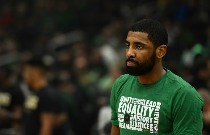 Kyrie Irving #11 of the Boston Celtics