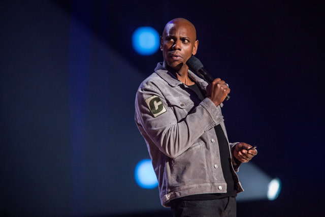 Dave Chappelle during Netflix special 'Equanimity'
