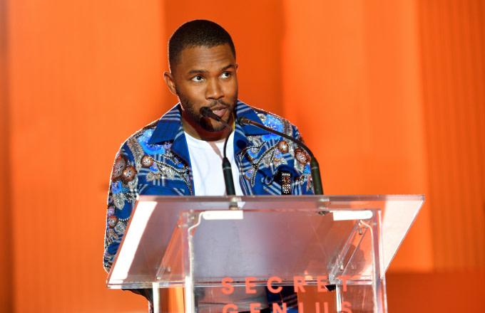 Frank Ocean speaks onstage at Spotify's Inaugural Secret Genius Awards