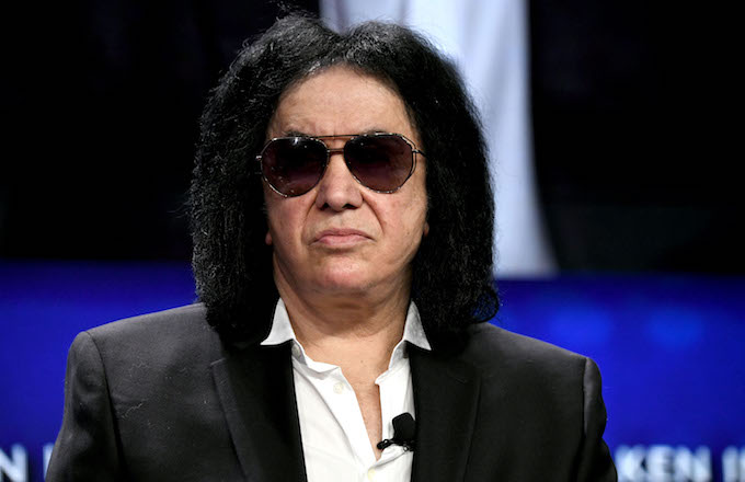 Gene Simmons participates in panel discussion during annual Milken Institute Global Conference.