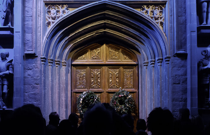 Gate of the Great hall of Hogwarts
