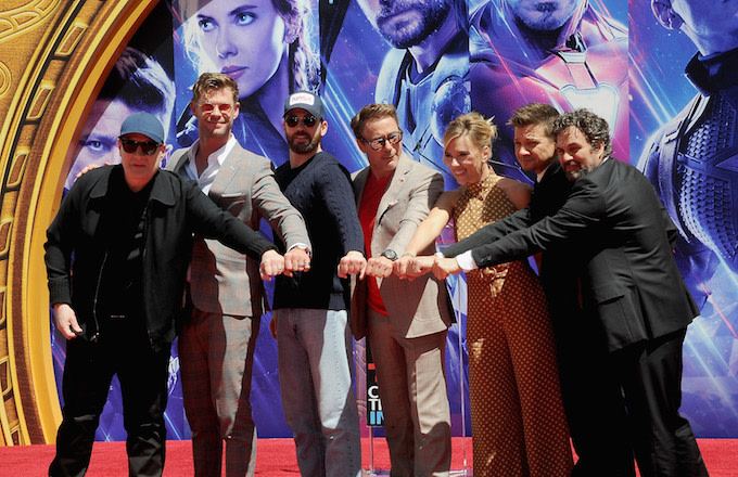 "Marvel Studios' ""Avengers: Endgame"" Cast Place Their Hand Prints In Cement."