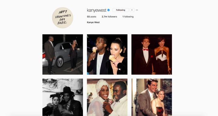 kanye instagram celebs