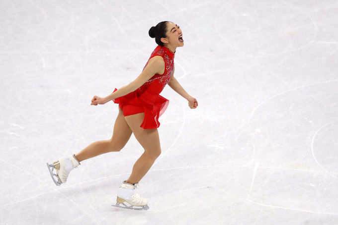 This is a picture of Mirai Nagasu/Dean Mouhtaropoulos