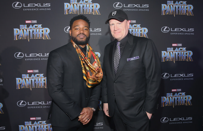 'Black Panther' director Ryan Coogler with Marvel preisdent Kevin Feige.