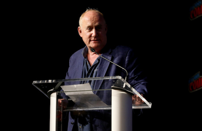 Jeph Loeb speaks on stage at the Marvel's Runaways Screening + Panel At New York Comic Con.