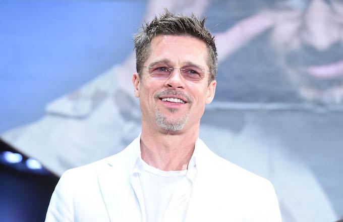 Brad Pitt attends the premiere for 'War Machine.'