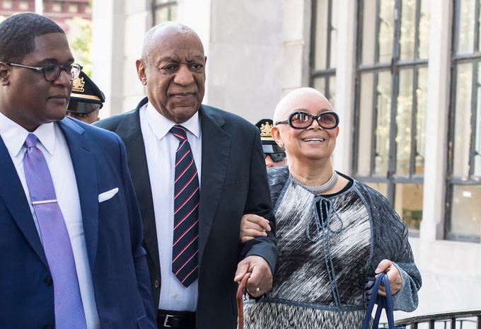 Bill Cosby and Camille Cosby at Bill Cosby Trial at Montgomery County Courthouse