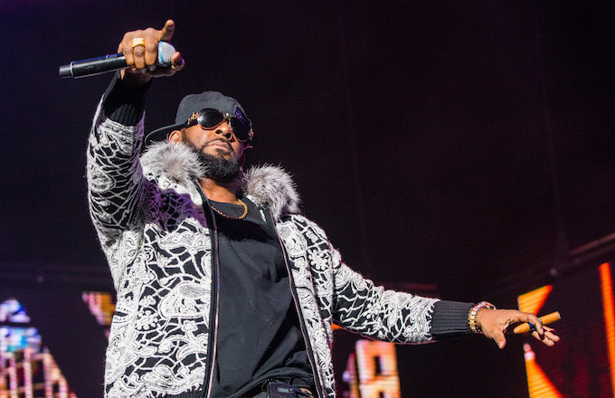 R. Kelly performs at Little Caesars Arena on Feb. 21.