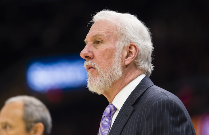 Gregg Popovich of the San Antonio Spurs.