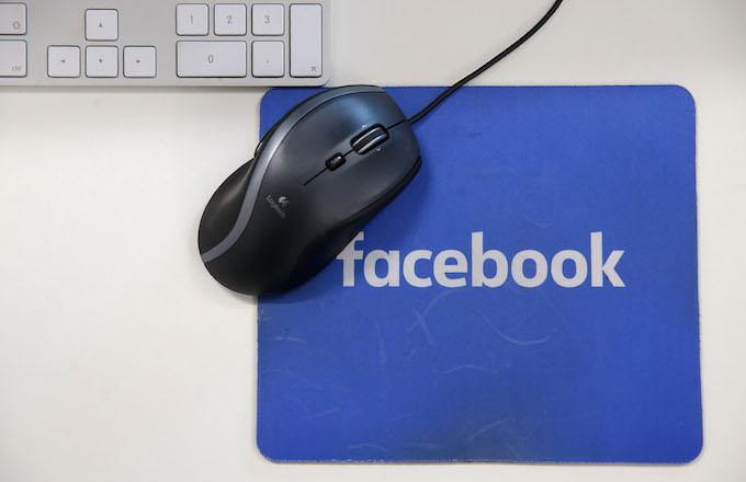 A Facebook mousepad.