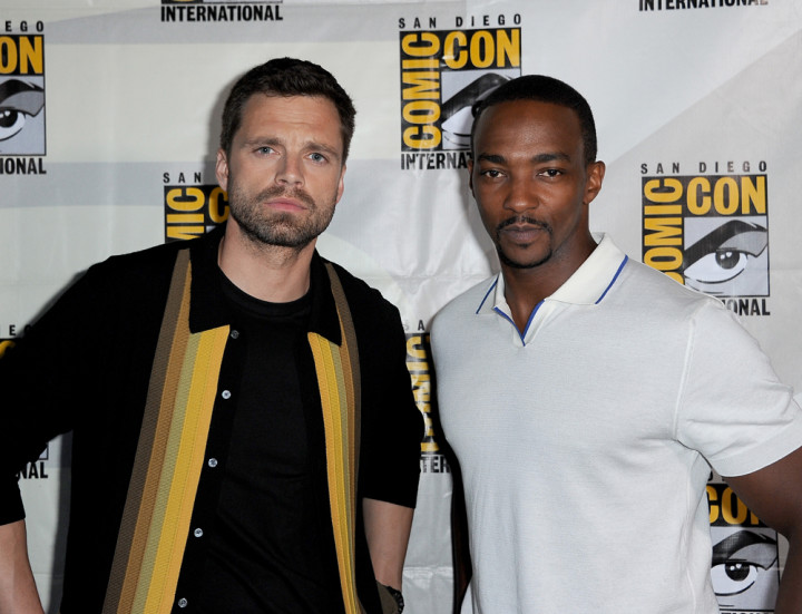 Sebastian Stan and Anthony Mackie attend the Marvel Studios Panel
