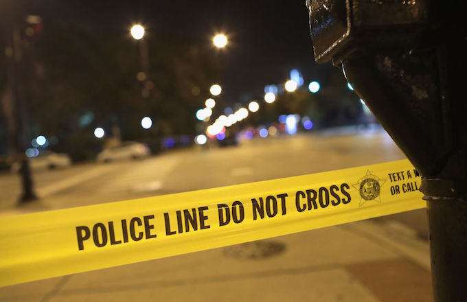 police shoot security guard