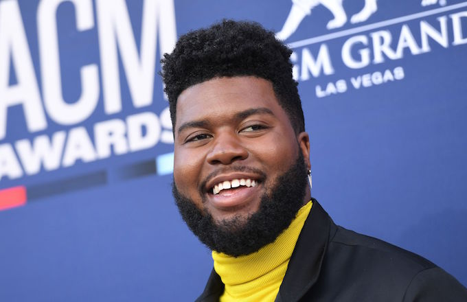 Khalid arrives for 54th Academy of Country Music Awards.