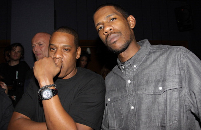 Jay-Z and Young Guru attend Jay-Z's Official Madison Square Garden Concert After Party