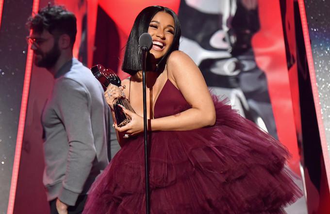 Cardi B at the 2018 iHeartRadio Awards