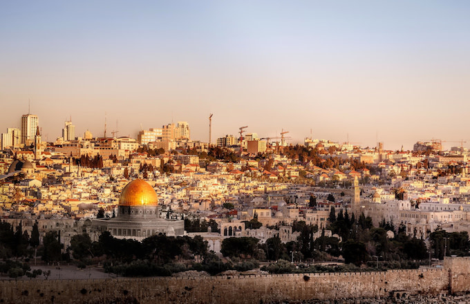 Dome of Rock Jerusalem Skyline.