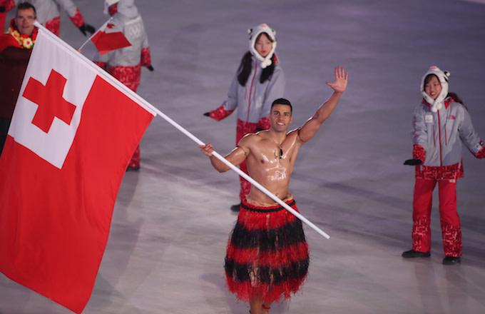 Pita Taufatofua of Tonga