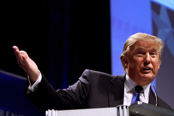 A photo of Donald Trump from Wikimedia Commons.