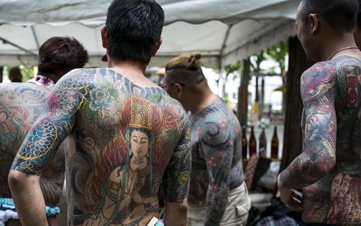 صورة توضح الأوشام الجسدية لأعضاء الياكوزا اليابانية | عبر جيتي