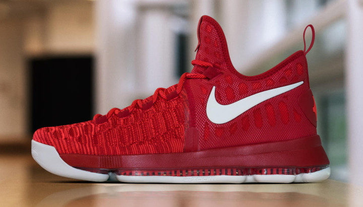 low priced fc9e6 6b091 Red White Nike KD 9 843392-611 | Complex