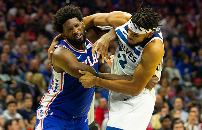 Karl-Anthony Towns and Joel Embiid