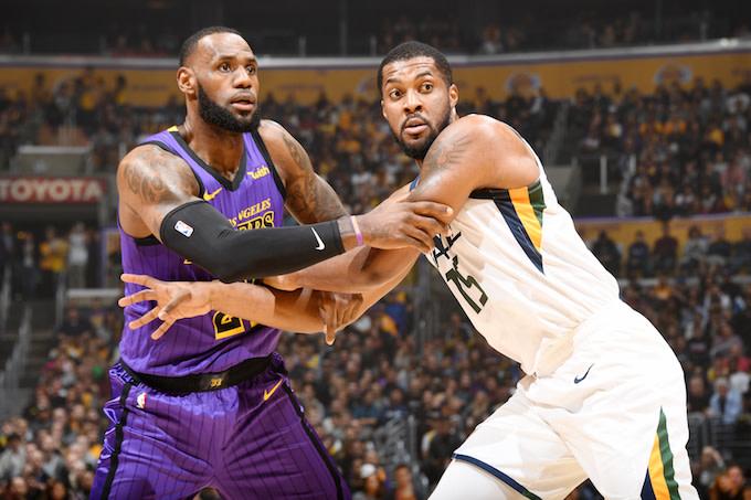 Lakers versus Jazz
