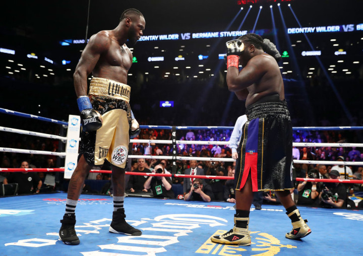 Deontay Wilder Bermane Stiverne No Punch 2017 Getty