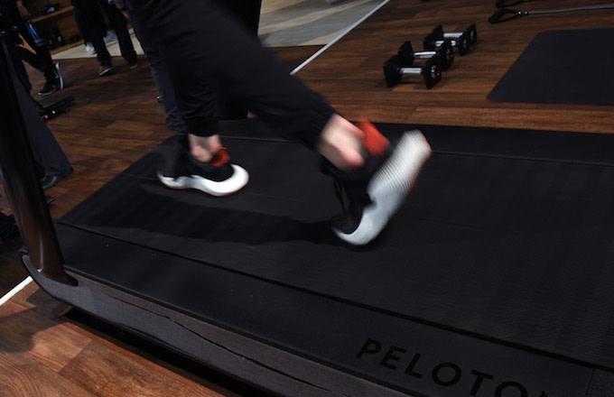 A treadmill at CES 2018