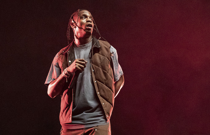 Rapper Travis Scott performs on day 2 of Music Midtown at Piedmont Park.