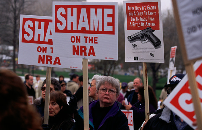 This is a photo of NRA protesters.