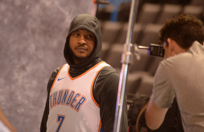 Hoodie Melo seen out in public.