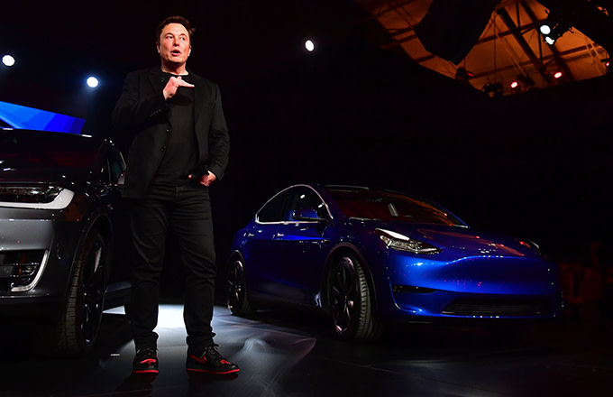 Elon and Tesla Model Y