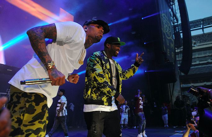 50 Cent and Chris Brown